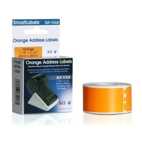 Orange address label