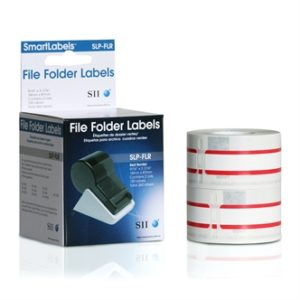 SLP-FLR Red File Folder Labels