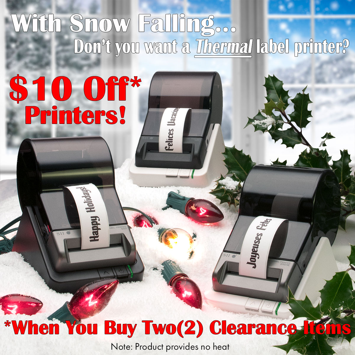 $10.00 off Smart Label Printer with purchase of two clearance items