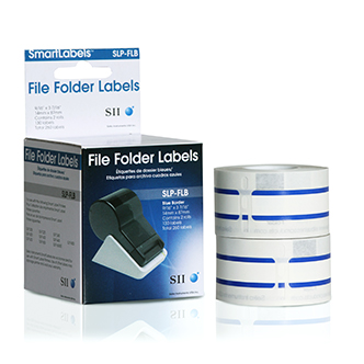 SLP-FLB Blue File Folder Labels